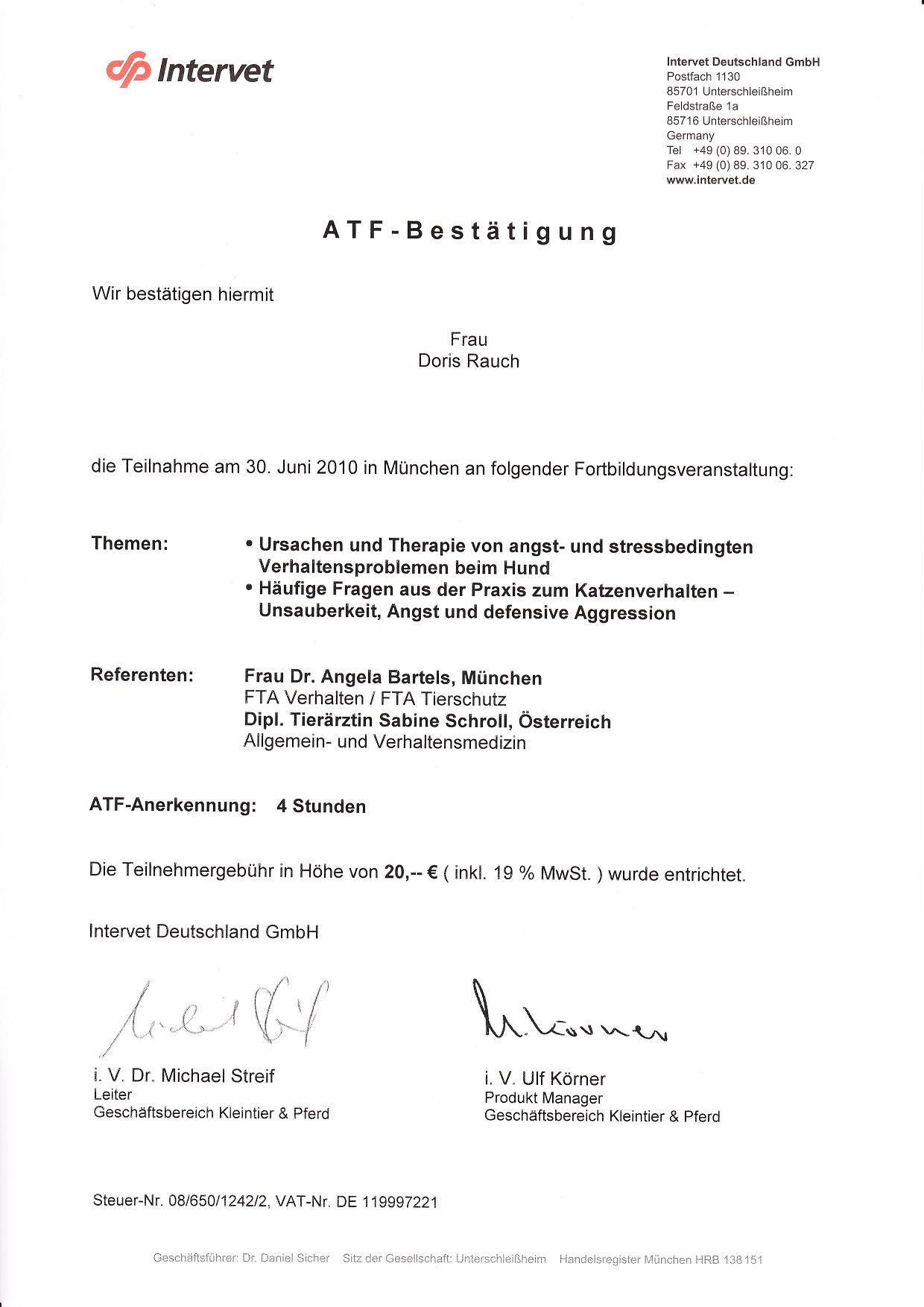 ATF-Bestätigung